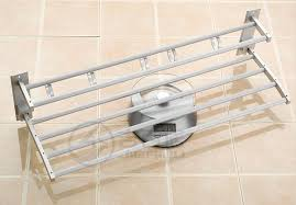 double towel rack for bathroom. aluminum towel rack double bar 24 inch wih 5 hooks bathroom shelves / holders for n