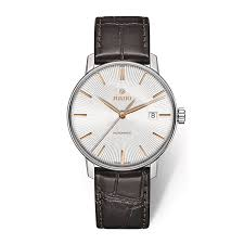 rado watches ernest jones rado men s stainless steel brown leather strap watch product number 2943948