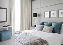 black and white bedrooms with blue accents photo 11