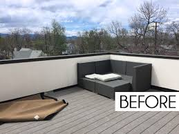 roof deck furniture. But This Rooftop Deck Clearly Has Tons Of Potential! It Just Needs A Little Vision, Comfy Furniture, And Some Vibrant Color To Turn Into The Coolest Spot Roof Furniture D