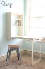 diy fold down table desk by diy fold up craft table