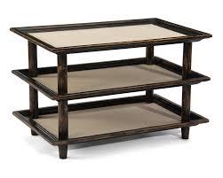 salon three tier side table