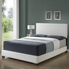 Monarch Specialties White Queen Low-Profile Bed at Lowes.com