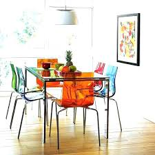 multi colored dining set multicolor distressed table chairs a playful touch