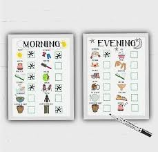 Adhd Morning Routine Chart Childrens Morning And Evening Routine Kids Reward Chart