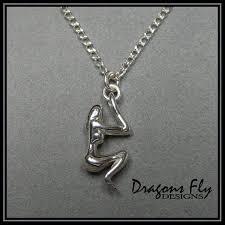 Nude woman silver pendant