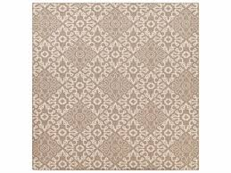 surya alfresco square camel cream area rug