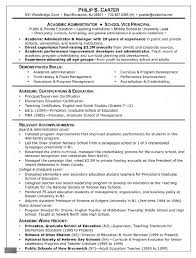 Resume Objective Examples For Grad School In Educational Leadership