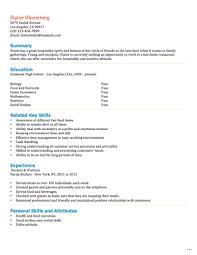 Resume Template For Applicable Visualize Fast Food Employee Marevinho