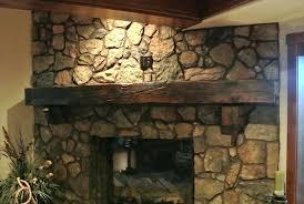 rustic stone fireplace mantels34 mantels