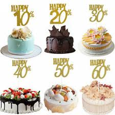 1pc New Happy Birthday Wedding Anniversary Cake Topper Cake Decor Ebay