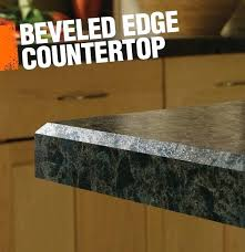 a beveled edge has an angled cut where the ends giving simple but polished look bevel