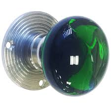 colored glass door knobs. green-glass door knob colored glass knobs w