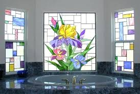 scottish stained glass denver handmade in a bathroom window by d dresser style privacy windows for bathrooms patterns minecraft
