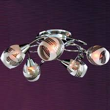 Chrome Flush Mount Ceiling Light