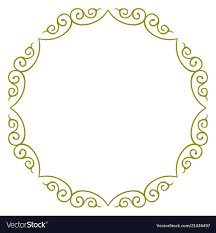 Circle Border Simple Circle Design Border Frame
