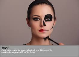 makeup ideas skeleton makeup tutorial half skull make up