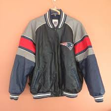 details about new england patriots varsity leather jacket nfl mens xl