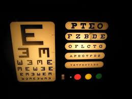 Vintage Eye Chart Light Box Vintage Optical Eye Chart Light Box Vintage Eye Chart