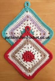Crochet Potholder Patterns Interesting Free Crochet Pattern For Granny Potholder Crochet 'n' Create