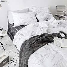 jumeey white marble comforter set queen