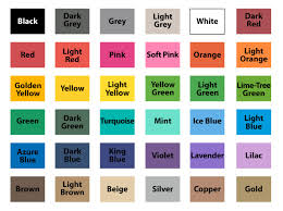 Color Chart With Names Matte Color Chart Wall Decal World