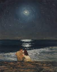 saatchi art artist marianna foster painting moonlight over the ocean art