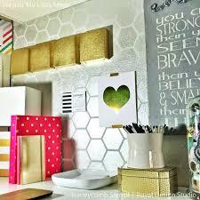 honeycomb wall decor metallic silver modern wall decor honeycomb pattern wall stencils royal design studio honeycomb honeycomb wall decor