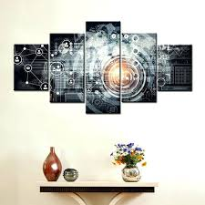 artwork for the office. Artwork For Office Wall Modern Technology Abstract Art Decor Canvas Painting High Quality The