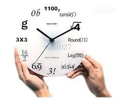 math nerd wall clock math wall clock target see larger image math wall clock