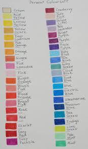 20 Timeless Derwent Coloursoft Pencils Colour Chart