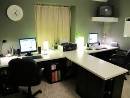 person home office. 2 person desk for home office