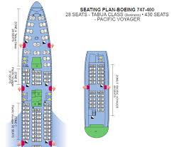 Boeing 747 Seating Chart Air Pacific Airlines Boeing 747 400 Pacific Voyager Aircraft