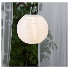 Solvinden Led Solar Powered Pendant Lamp Outdoor Globe White In