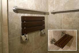 stone shower bench this large stacked stone shower showcases a bench that exudes a relaxing spa