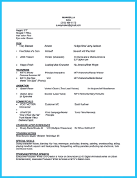 Free Acting Resume Template Resume Template Actor Therpgmovie 89