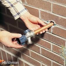 how to install a frost proof outdoor faucet