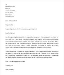 Lease Termination Letter Sample Of Dismissal From Work Appeal For ...