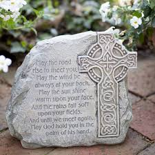 celtic cross garden stone with irish blessing on irish blessing wall art with irish blessing art the catholic company