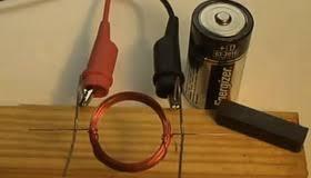 simple homemade electric motor.