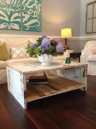 coffee table made from an old door