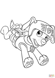 Small Picture Zuma with Scuba Gear Backpack coloring page Free Printable