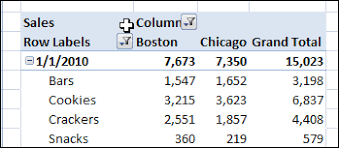 How To Hide Field Buttons In Pivot Chart Hide Pivot Table Buttons And Labels Contextures Blog