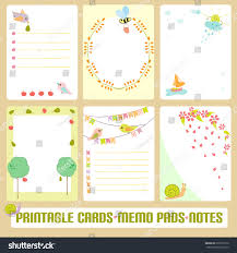Memo Card Template Romantic Cards Notes Labels Tags Vector Stock Vector Royalty Free