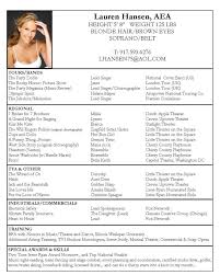 Examples Of Actors Resumes 100 Images Cv Examples Images Frompo
