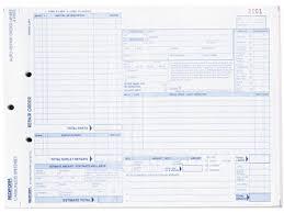 auto repair forms rediform 4p489 speediset four part auto repair form 11 x 8 1 2 four part carbonless 50 forms