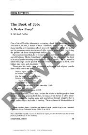 the book of job a review essay book reviews the rabbinical the book of job a review essay book reviews
