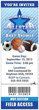 Free Printable Boy Baby Shower Invitations  My Practical Baby Baby Shower Invitations Sports Theme