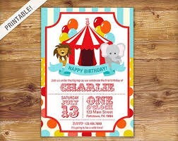 Circus Party Invitation Inspiration First Birthday Carnival Invite Circus Invitation Carnival