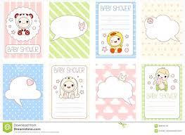 Baby Banners Template Set Of Birthday Banners With Cute Baby Stock Vector Illustration